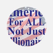"""America for ALL 35  dk-bl  Flags Cafe- 3.5"""" Button"""