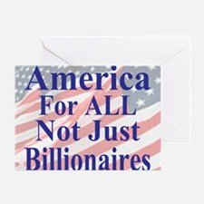 America for ALL 35  dk-bl  Flags Caf Greeting Card