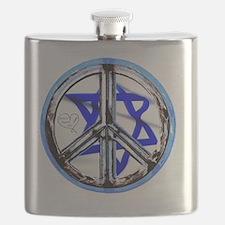 peace_heart_jewish_star Flask