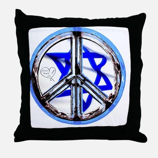 peace_heart_jewish_star Throw Pillow