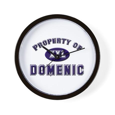 Property of domenic Wall Clock