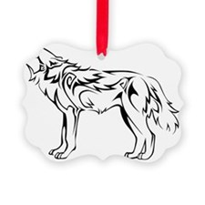 tribal_howling_wolf Ornament