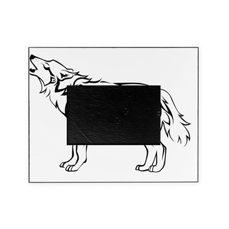 tribal_howling_wolf Picture Frame