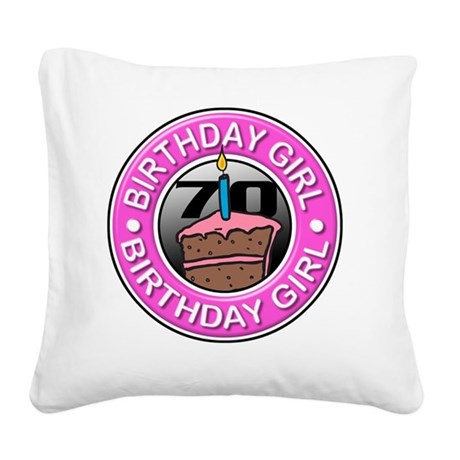 Birthday_Girl-70 Square Canvas Pillow