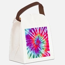 Pink Spiral NC Canvas Lunch Bag