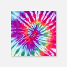 "Pink Spiral NC Square Sticker 3"" x 3"""