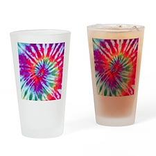 Pink Spiral NC Drinking Glass