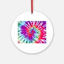 Pink Spiral NC Round Ornament