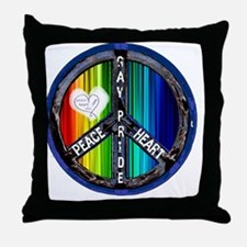 peace_heart_gay_pride Throw Pillow