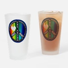 peace_heart_gay_pride Drinking Glass