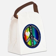 peace_heart_gay_pride Canvas Lunch Bag