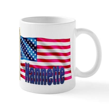 Nannette American Flag Gift Mug