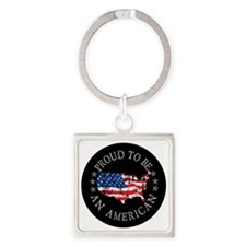 American_Button Square Keychain