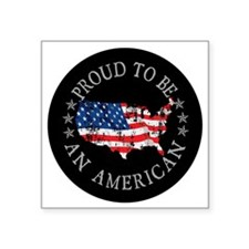 "American_Button Square Sticker 3"" x 3"""