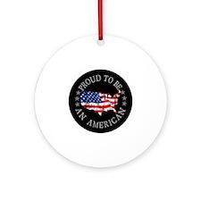 American_Button Round Ornament