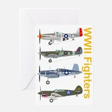 WWIIFighters_Dk_Front Greeting Card