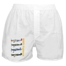 WWIIFighters_Dk_Front Boxer Shorts