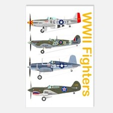WWIIFighters_Dk_Front Postcards (Package of 8)