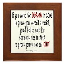If you voted for Obama Framed Tile
