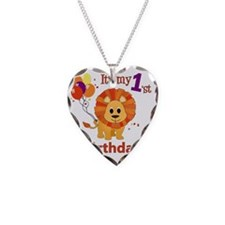 lion1stBirthday Necklace Heart Charm