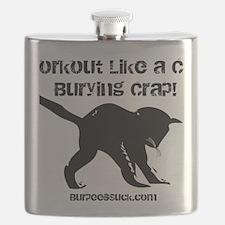 CAT CRAP - WHITE Flask