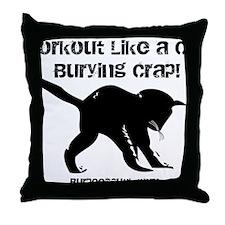 CAT CRAP - WHITE Throw Pillow