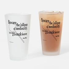 Lollipop-black Drinking Glass