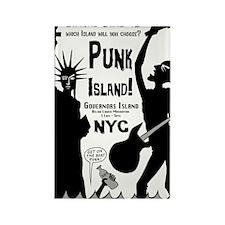 Punk Island! NYC 2011 Rectangle Magnet