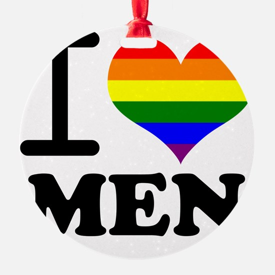 Gay Pride - I love men Ornament