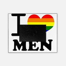 Gay Pride - I love men Picture Frame