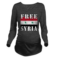 Free SyriA Long Sleeve Maternity T-Shirt