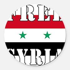 Free SyriA Round Car Magnet