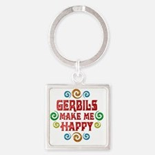 gerbil Square Keychain