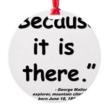 Mallory Because Quote Ornament
