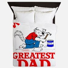 WORLDS GREATEST DAD Queen Duvet
