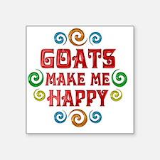 "goat Square Sticker 3"" x 3"""
