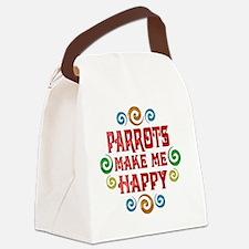 parrots Canvas Lunch Bag