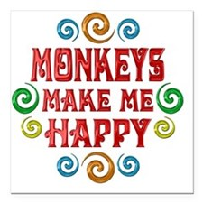 "monkey Square Car Magnet 3"" x 3"""