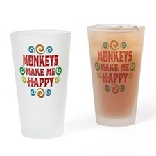 monkey Drinking Glass