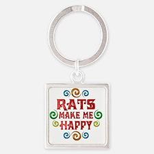 rat Square Keychain