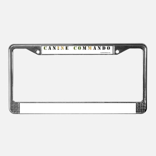 ga_caninecommandobowl License Plate Frame