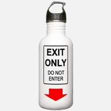 Exit-Only-T-Shirt-Dark Water Bottle
