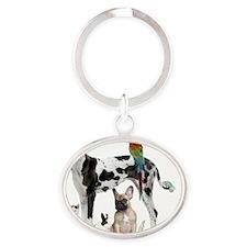SEO_ANIMALS Oval Keychain