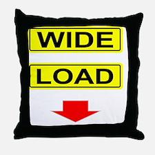 Wide-Load-T-Shirt-Dark_vectorized Throw Pillow