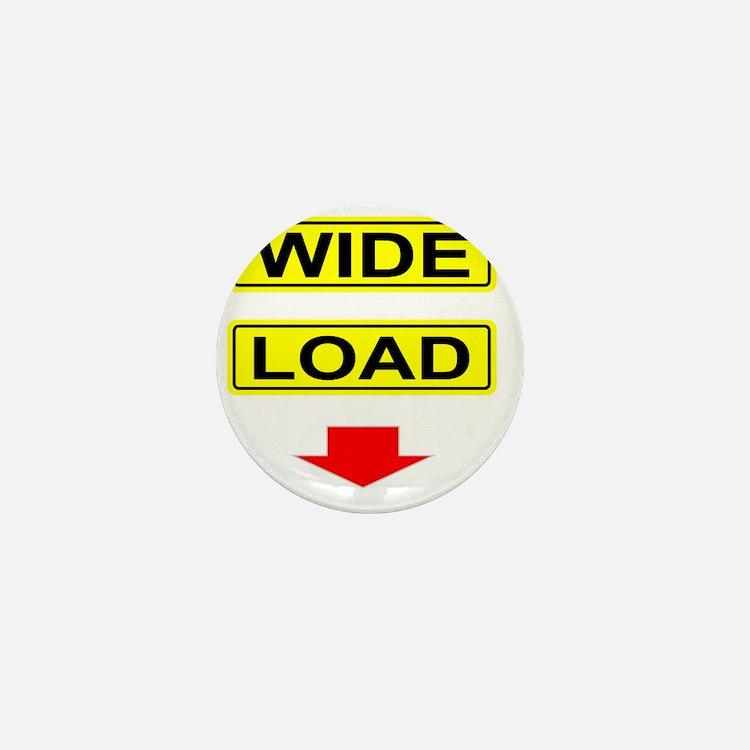 Wide-Load-T-Shirt-Dark_vectorized Mini Button