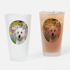 J-ORN-Garden-Westie-P Drinking Glass