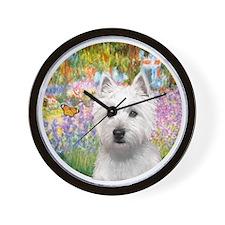 J-ORN-Garden-Westie-P Wall Clock