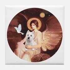 J-ORN-Angel1-Westie-P Tile Coaster