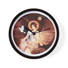 J-ORN-Angel1-Westie-P Wall Clock