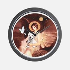 J-ORN-Angel1-Westie-P Wall Clock